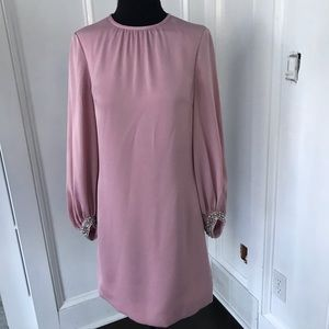 Stunning Ted Baker Joelle pale pink dress NWT sz 0